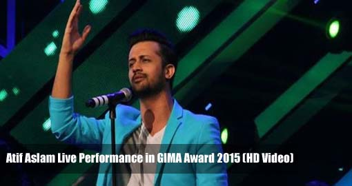 Atif Aslam Live Performance in GIMA Award 2015 (Video